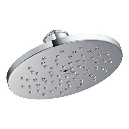 MOEN 1-Spray 8-inch Single Wall Mount Fixed Shower Head in Chrome