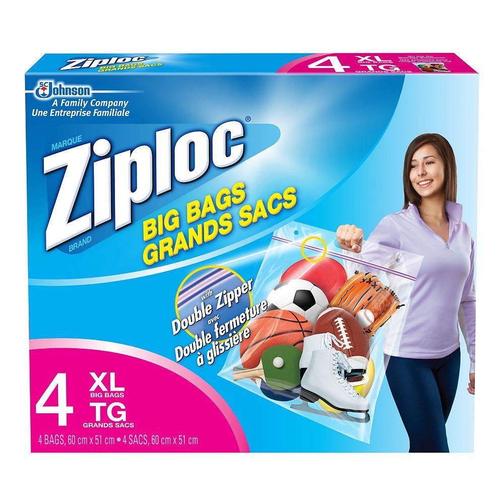 Ziploc Paq. de 4 grands sacs Ziploc - très grand