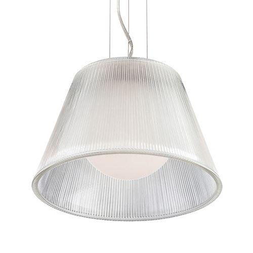 Eurofase Ribo Collection 1 Light Chrome & Clear Pendant