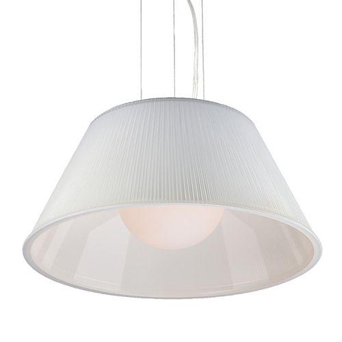 Eurofase Ribo Collection 1 Light Large Chrome & White Pendant