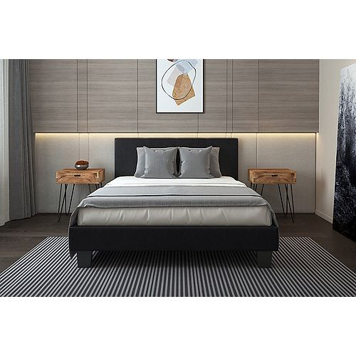 Volt Queen Platform Bed in Brown -No Boxspring required
