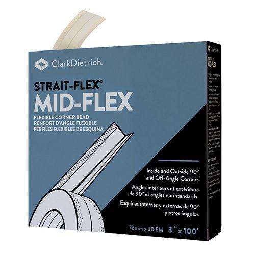 Strait-Flex Mid-Flex 300 MF-100C Drywall Corner Tape 3 Inch x 100 Feet Roll