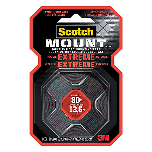 Extreme 1-inch x 60-inch Mounting Tape