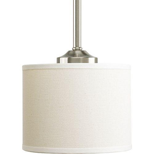 Mini suspension à 1 Lumière, Collection Inspire - fini Nickel Brossé