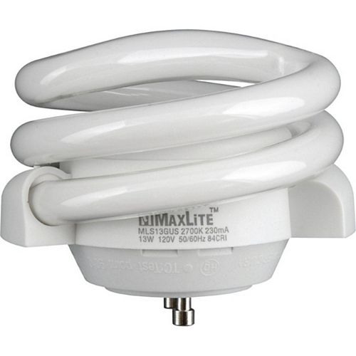 13-watt GU-24 Self-ballasted Compact Fluorescent Bulb, 2700K