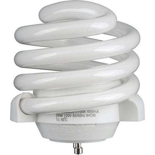 26-watt GU-24 Self-ballasted Compact Fluorescent Bulb, 2700K