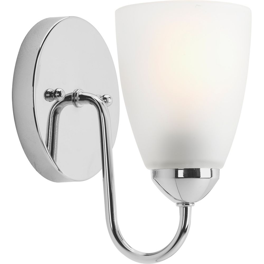 Progress Lighting Gather Collection 1-light Polished Chrome Bath Light