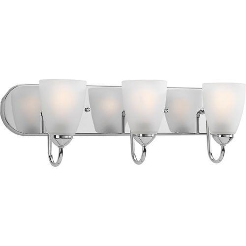 Progress Lighting Gather Collection 3-light Polished Chrome Bath Light