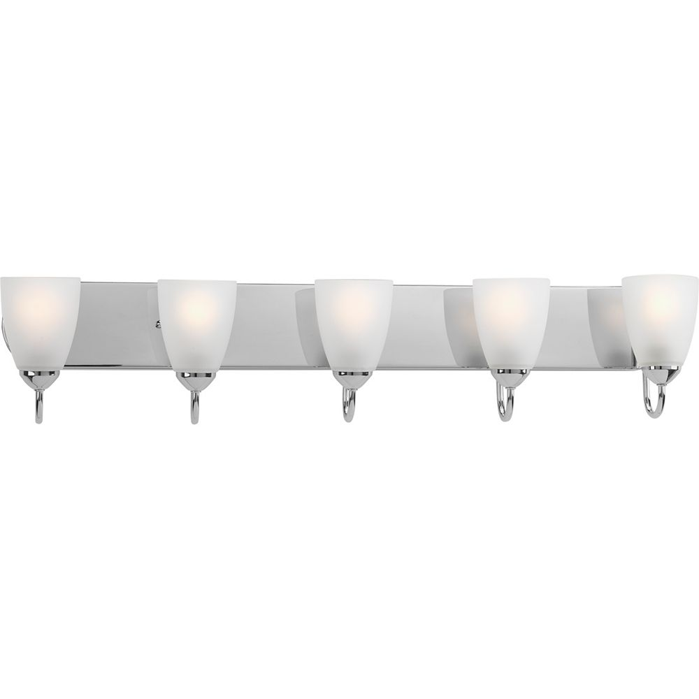 Progress Lighting Gather Collection 5-Light Polished Chrome Vanity Light