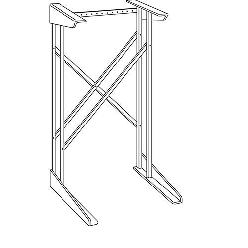 Spacemaker 24.5-inch Dryer Stand in White