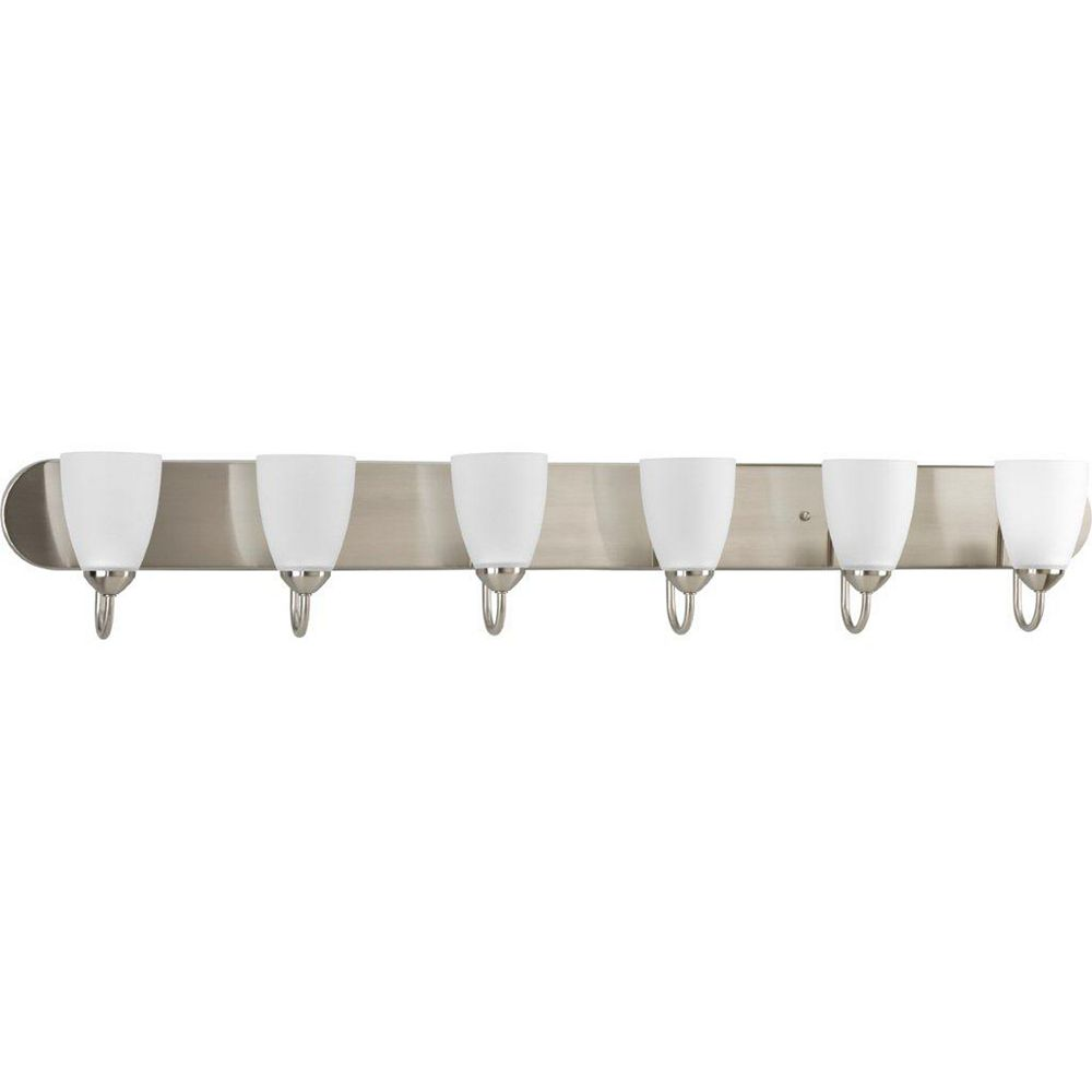 Progress Lighting Gather Collection 6-light Bath Fixture in Brushed Nickel