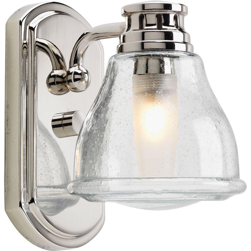 Progress Lighting Academy Collection 1-light Polished Chrome Bath Light