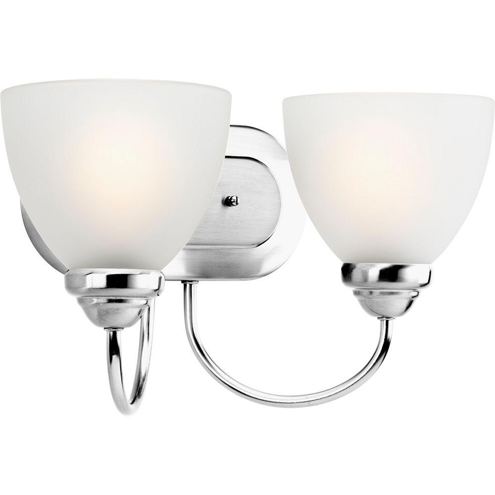 Progress Lighting Heart Collection 2-light Polished Chrome Bath Light