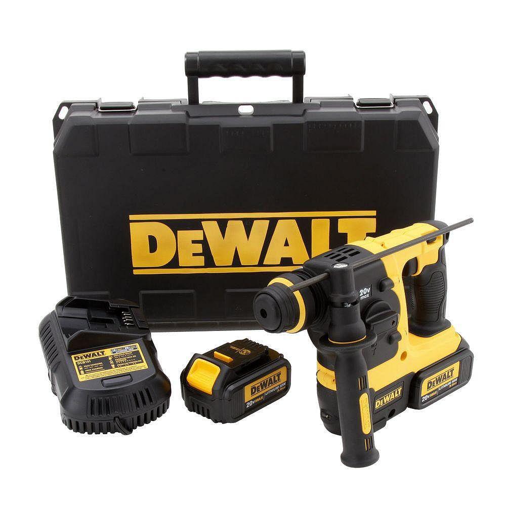 DEWALT 20V MAX Li-Ion 3-Mode SDS Rotary Hammer (3.0Ah) with 2 Batteries and Kit Box
