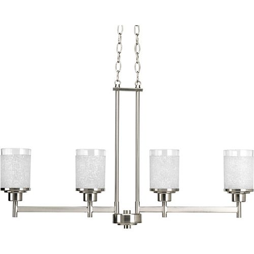 Progress Lighting Alexa Collection 4-Light Chandelier in Brushed Nickel