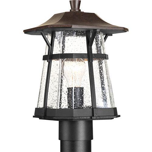 Progress Lighting Derby Collection 1-light Espresso Post Lantern