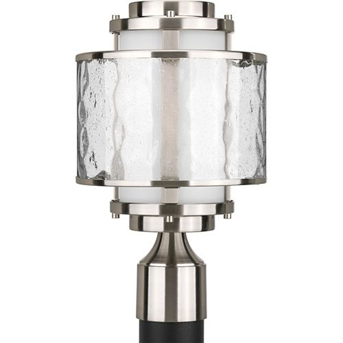 Bay Court Collection Brushed Nickel 1-light Post Lantern