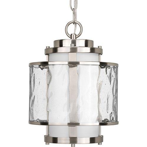 Progress Lighting Lanterne suspendue à 1 Lumière, Collection Bay Court - fini Nickel Brossé