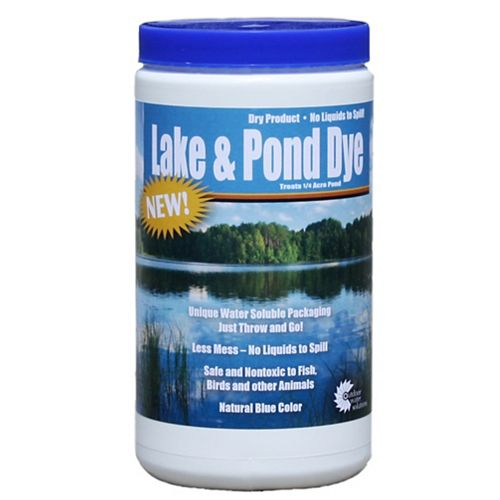 Lake and Pond Dye, 2 Dry Water Soluble Pouches