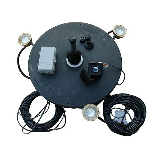Fontaine 1 hp avec lumières