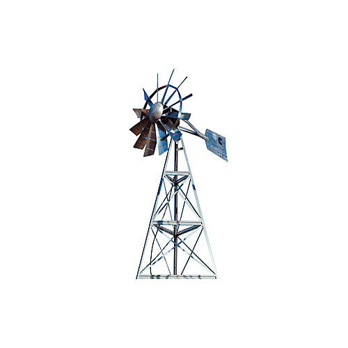 Système daération par éolienne galvanisée à 3 pattes – 12 pieds