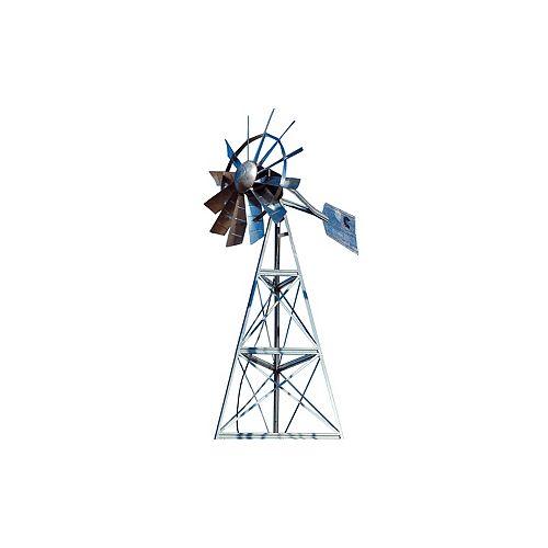 Galvanized 3-Legged Windmill Aeration System - 12 Foot