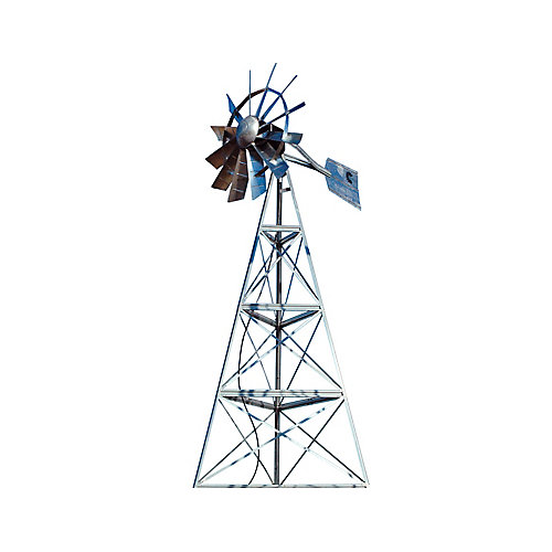 Système daération par éolienne galvanisée à 3 pattes– 16 pieds