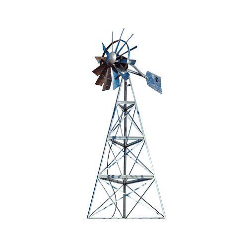 Galvanized 3-Legged Windmill Aeration System - 16 Foot