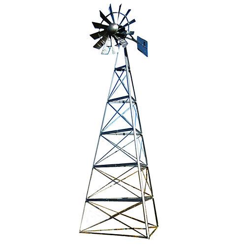 Kit de système daération par éolienne galvanisée deluxe à 3 pattes – 24 pieds