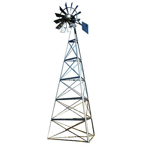 Galvanized Deluxe 3-Legged Windmill Aeration System Kit - 24 Foot