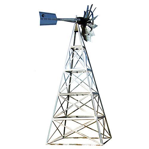 Kit de système daération par éolienne galvanisée deluxe à 4 pattes – 20 pieds