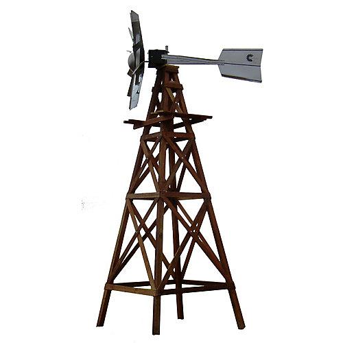 Kit déolienne en bois, tête galvanisée fonctionnelle avec plans pour le bois et matériel