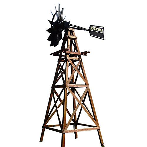 Système daération par éolienne en bois à 4 pattes deluxe avec tête recouverte en poudre – 16 pieds