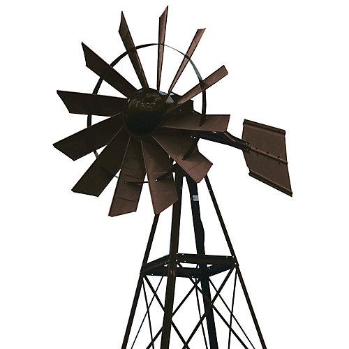 Eolienne recouverte en poudre bronze – 20 pieds