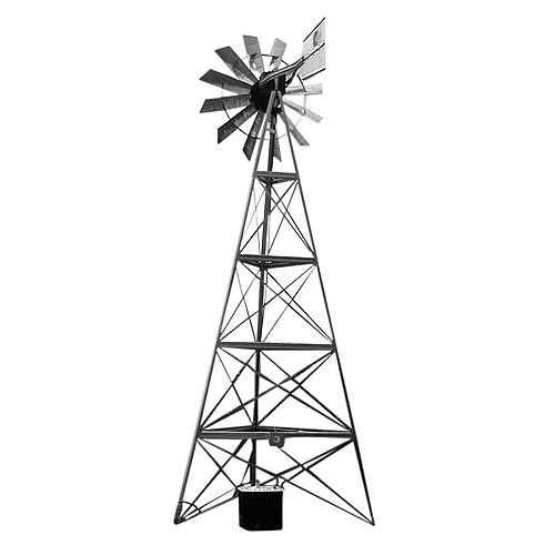 Windmill and Electric Aerator Combo Package - 20 Foot