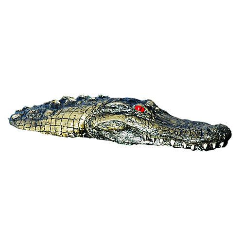 marqueur de pierre de diffusion en forme d'alligator flottant