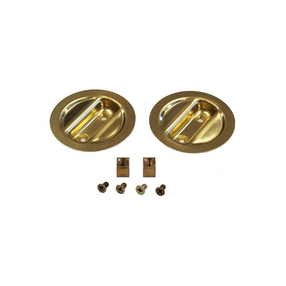 Alexandria Moulding Bright Brass Pocket Door Pull Handle