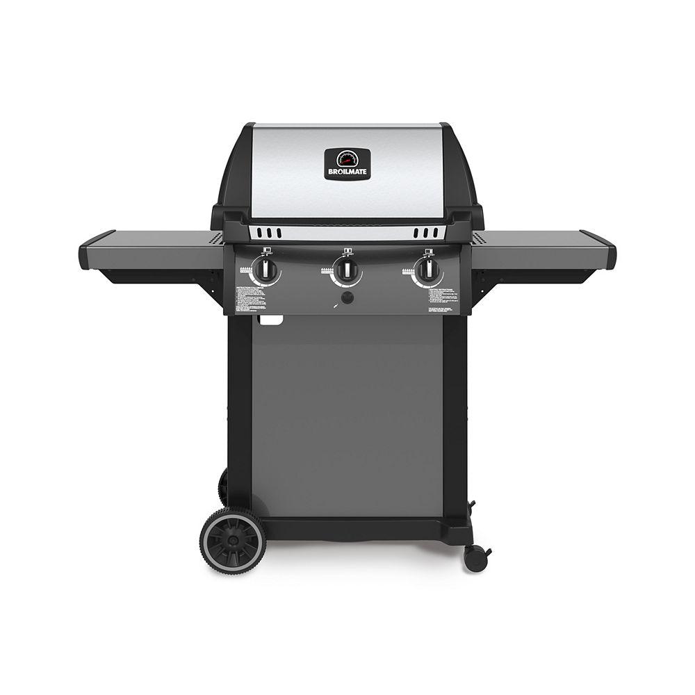 Broil-Mate Barbecue au propane à base sur pied avec 3 brûleurs, fonte aluminium