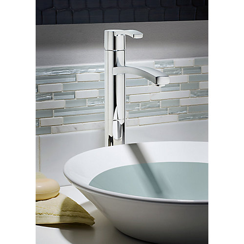Perth Single Hole 1-Handle High Arc Bathroom Faucet in Chrome with Lever Handle