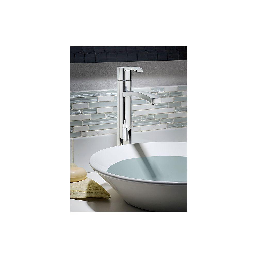 American Standard Robinet de salle de bains Perth monotrou à 1 poignée à arche haute avec poignée à levier en chrome