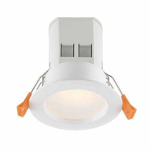 Commercial Electric Ens. de 4 luminaires encastrés DEL de 3 po, fini blanc