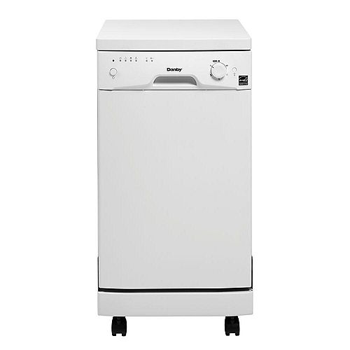 18-inch Portable Dishwasher in White