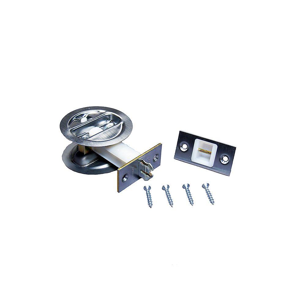 Alexandria Moulding 1 3/8-inch Satin Nickel Pocket Door Lock