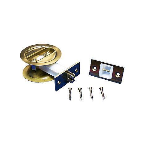1 3/8-inch Brass Pocket Door Lock