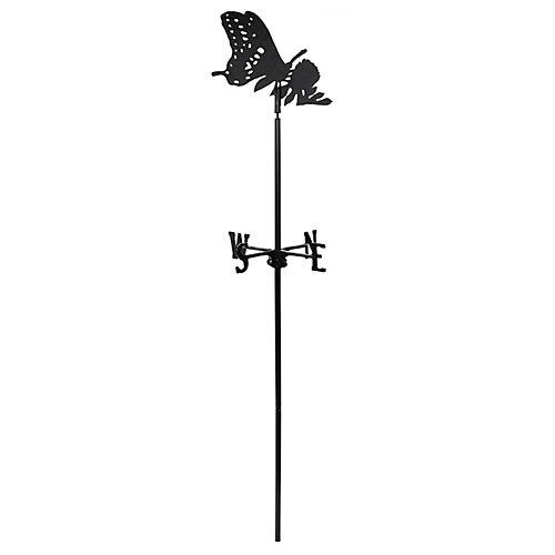 Le papillon - la Girouette de Jardin - Noir