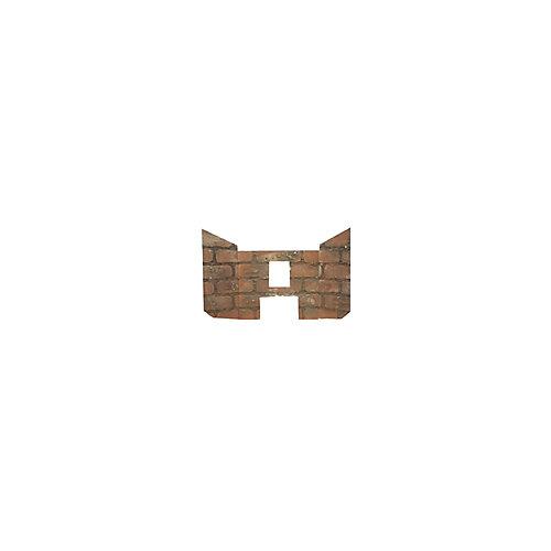Decorative Masonry-Like Panels Fits On Drolet Eco45 Pellet Stove