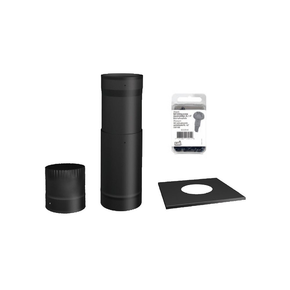SBI Black Pipe Kit For Installation 'To The Ceiling'