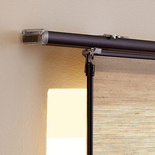 Rail supérieur de rail de panneau, Noir, 198 cm L (Largeur réelle 198 cm)