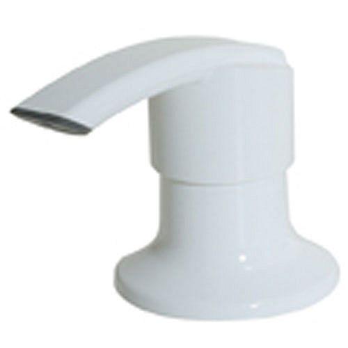 Kitchen 1-Handle Soap Dispenser in White