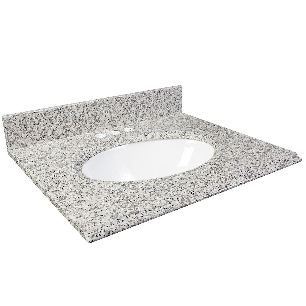 Foremost 31-Inch W Granite Vanity Top in White Ash